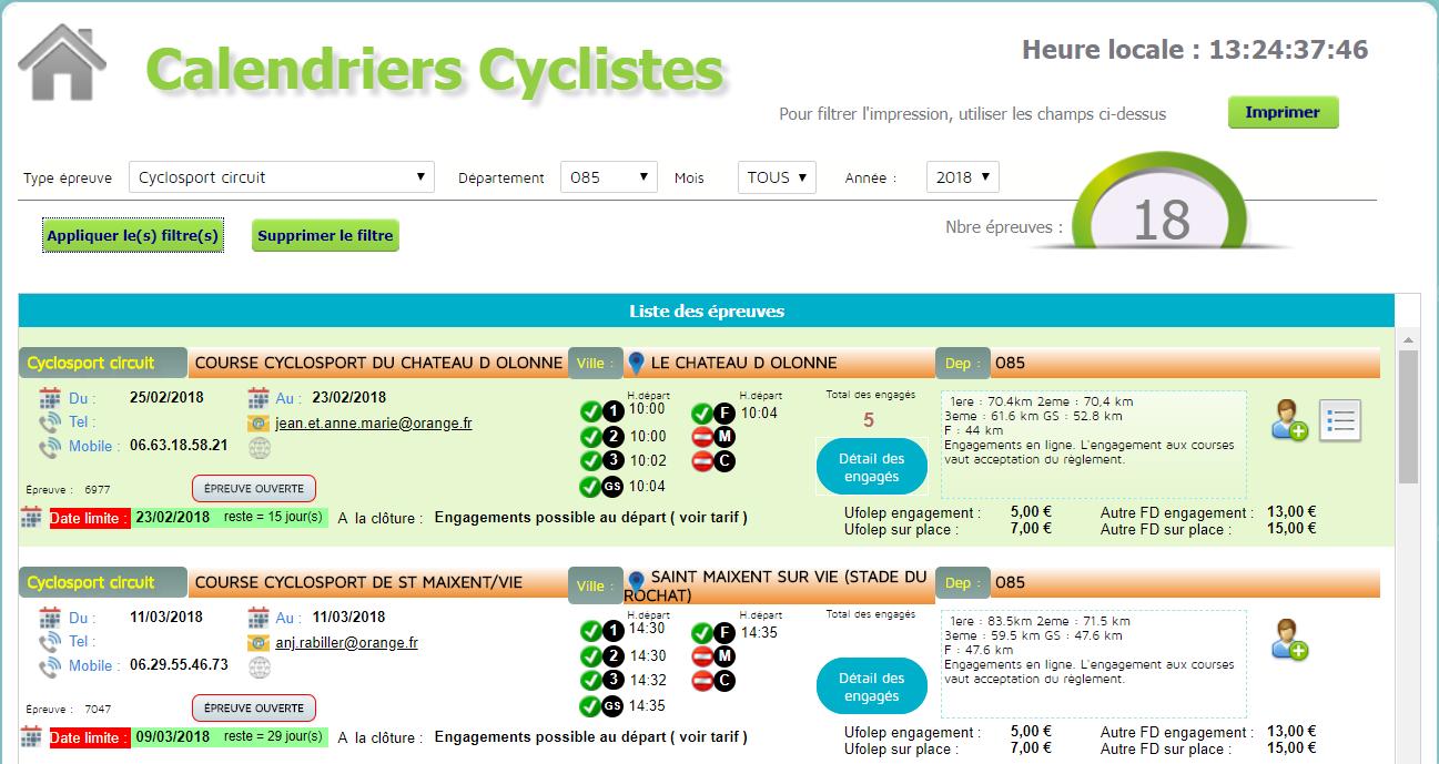 Calendrier Des Courses Cyclistes 2019.Courses 2019
